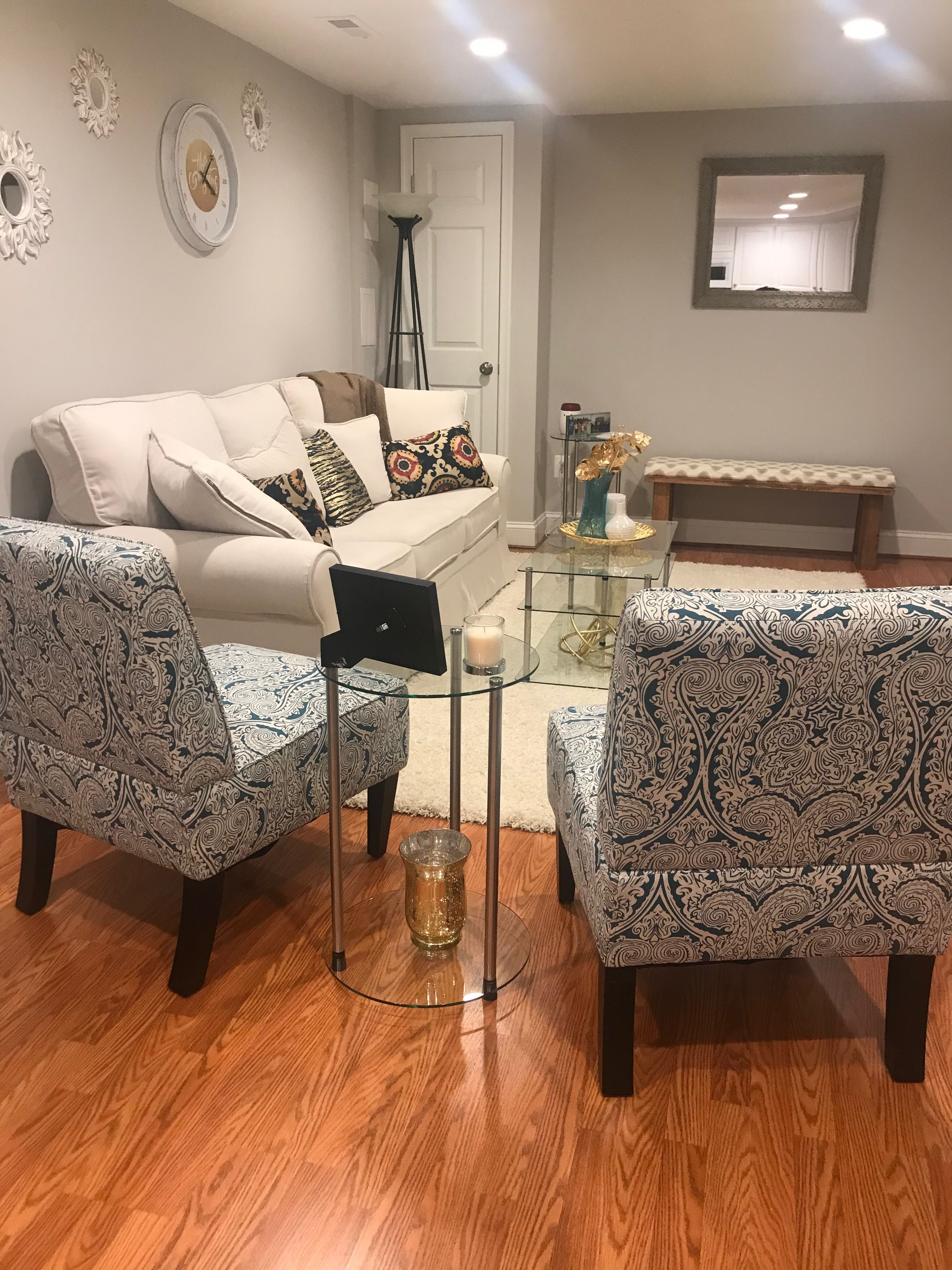 Blue Gold And White Living Room Accent Chairs Small Living Room Small Living Room White Living Room White Living #small #living #room #armchair