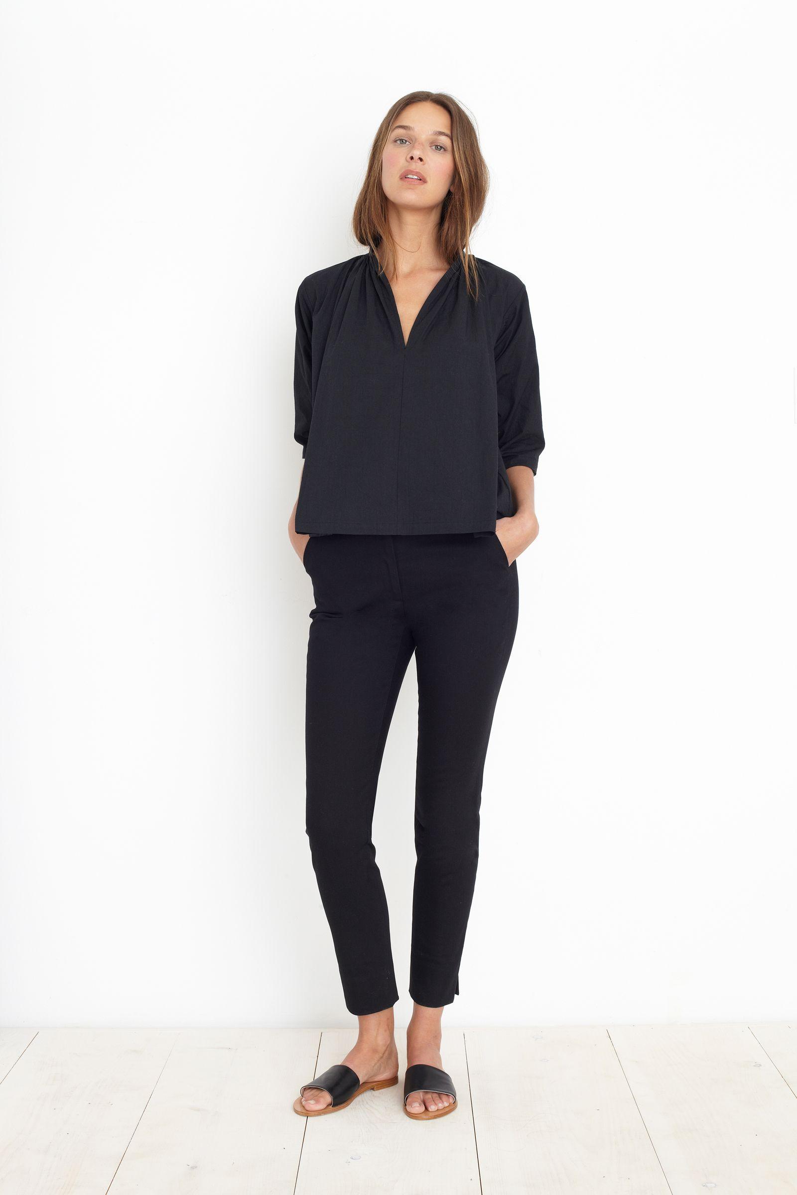 SHIRRED AGATA BLACK | Fashion, Fashion clothes women