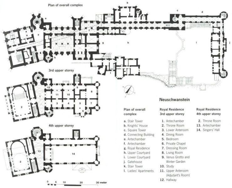 Neuschwanstein Castle neuschwansteinplan.jpg (740×600