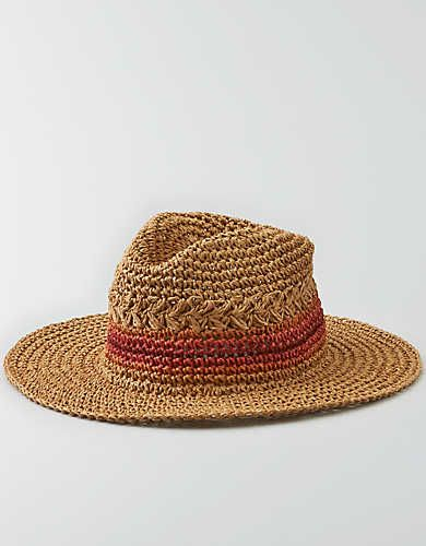 0a617cc7 AEO Wide Brim Straw Boater Hat | Accesorize | Mens outfitters, Hats ...