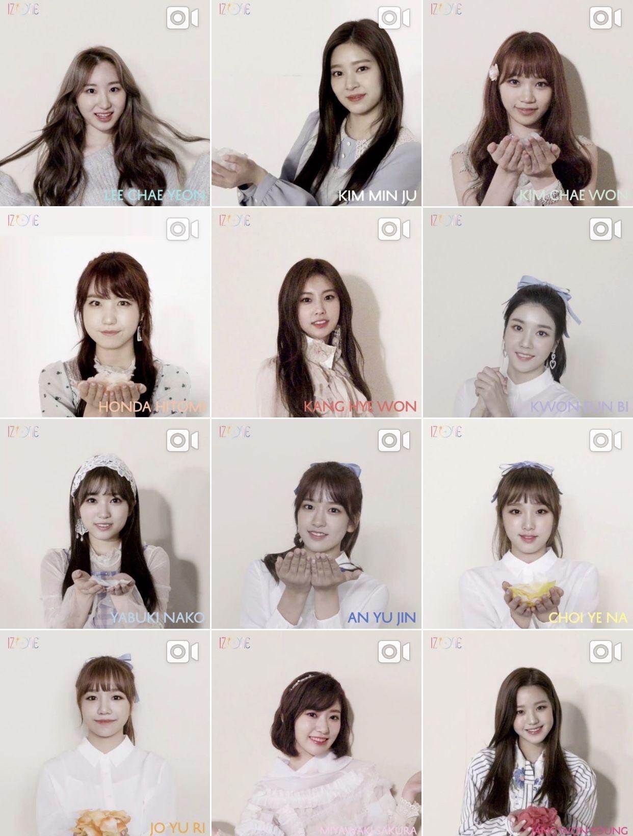 Iz One Lavieenrose Izone Kpop Girl Group Kpop Polaroid Film