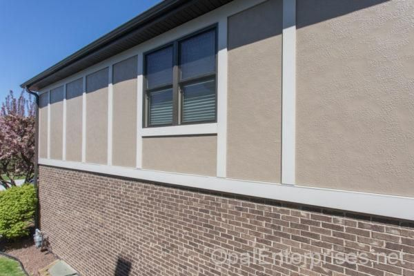 New Stucco Windows Doors In Orland Park Exterior House Renovation House Exterior Windows Doors