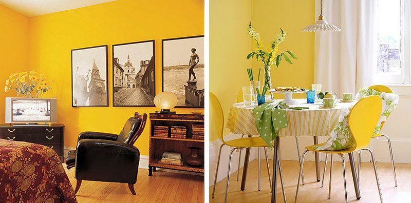 comedor y salon amarillos   Decoracion apartamento   Pinterest