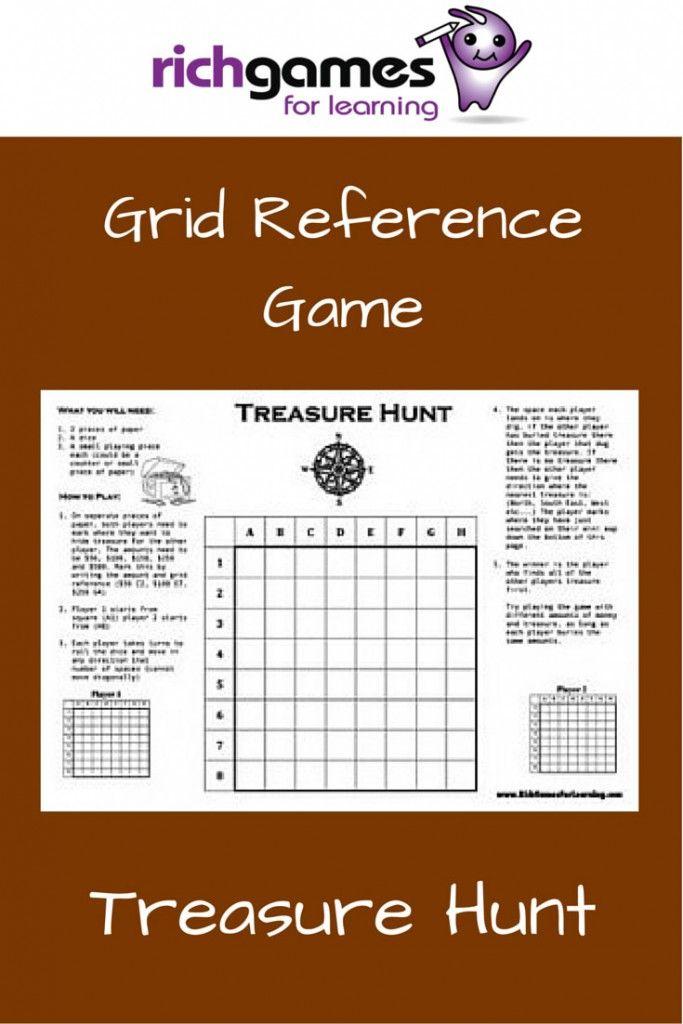 Grid Reference Game - Treasure Hunt | Maths | Pinterest