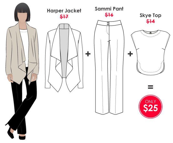 Harper + Skye + Sammi Outfit   Style Arc Pattern Collectiom   Pinterest