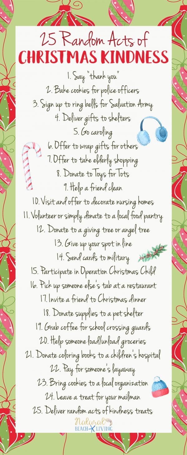 25 Random Acts of Christmas Kindness Printable in 2020