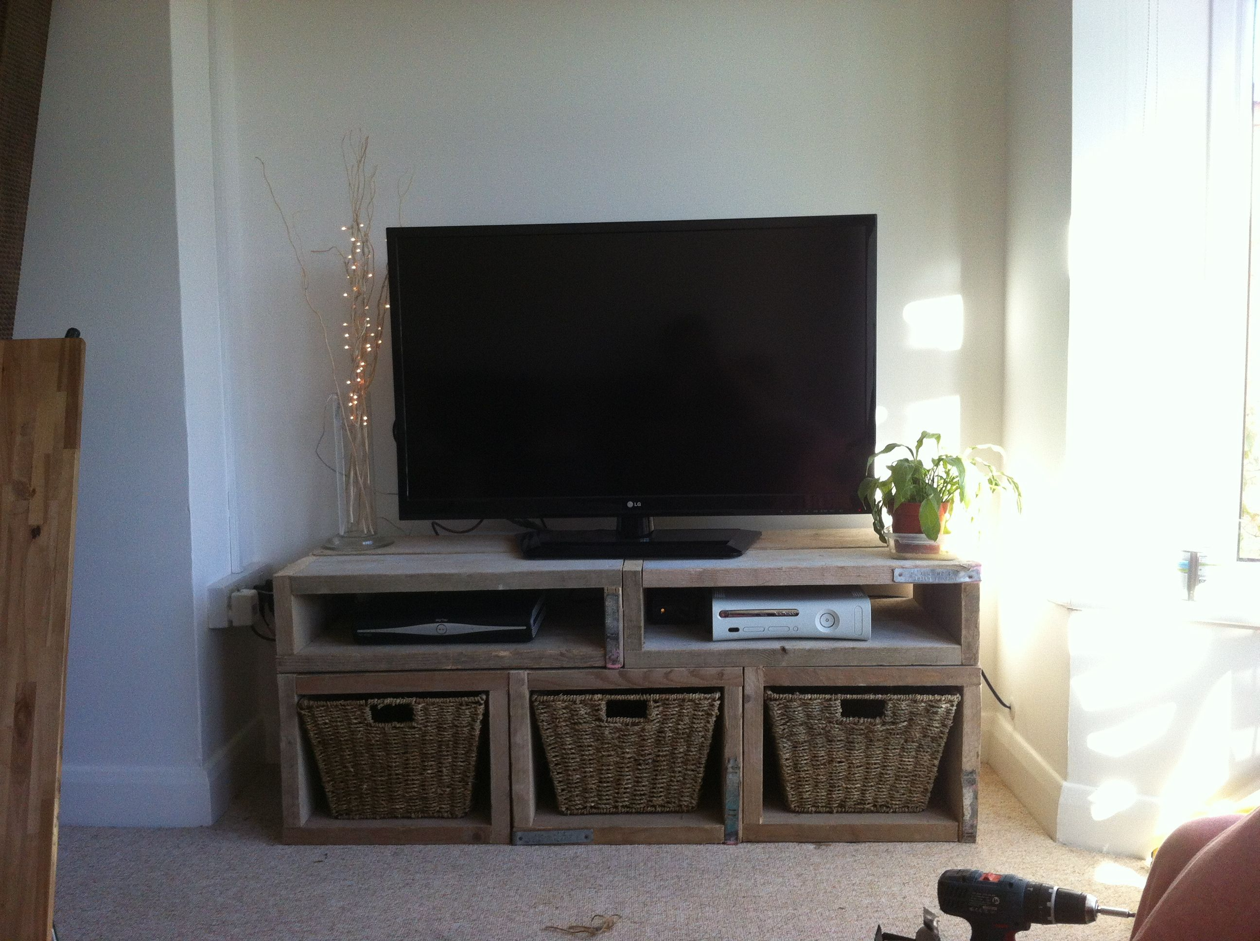 Tv Unit Made From Used Scaffold Boards