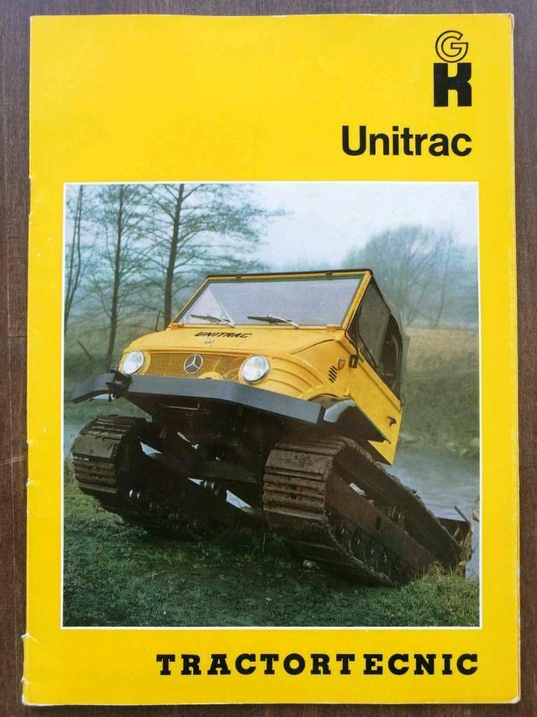 unitrac unimog umbau von tractortecnic prospekt 1969 in stuttgart stuttgart s d. Black Bedroom Furniture Sets. Home Design Ideas