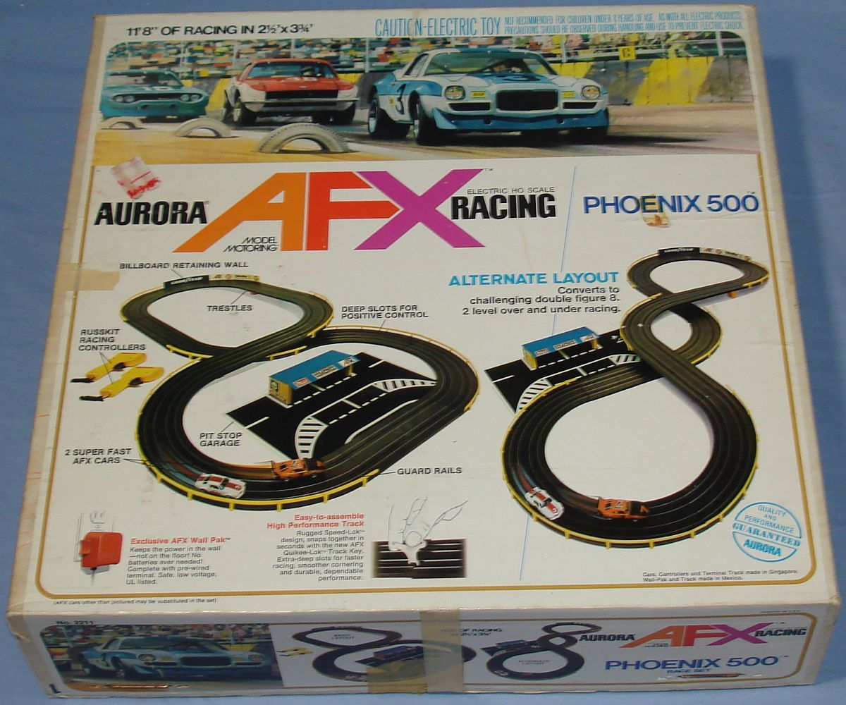 slot car race track set