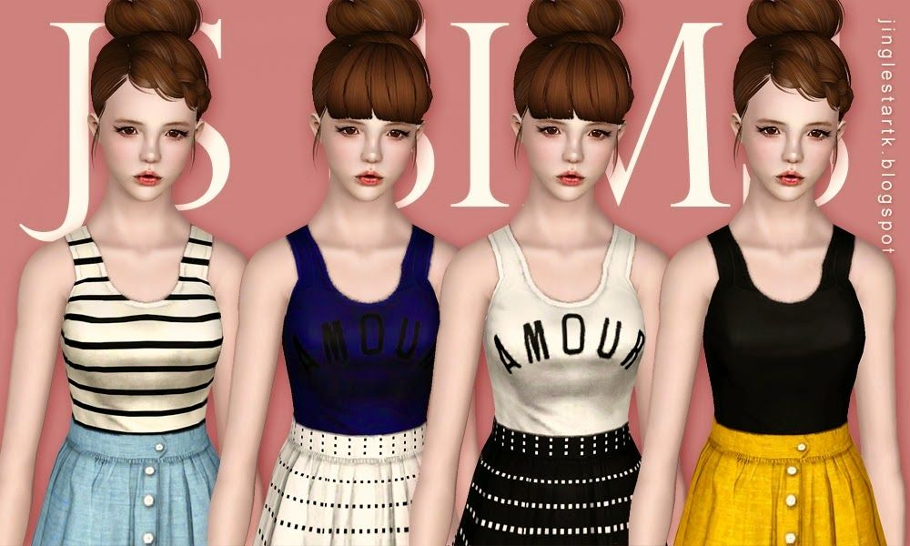My Sims 3 Blog: Crop Tank Top & Linen Skirt by JS Sims 3