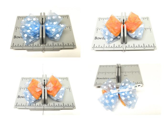 Learn to make hair bows with polymer clay button centers.