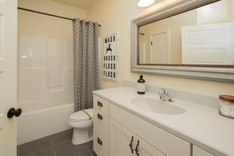 Lower level bath ceramic tile floors painted cabinets marbelite lower level bath ceramic tile floors painted cabinets marbelite counter top dcor dailygadgetfo Gallery