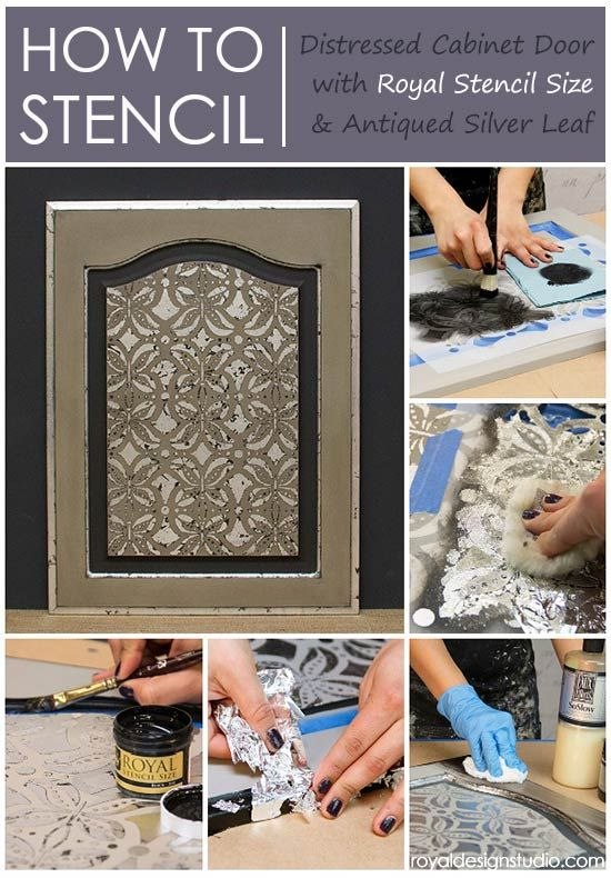 Stencil How To Using Royal Stencil Size For A Silver Accented