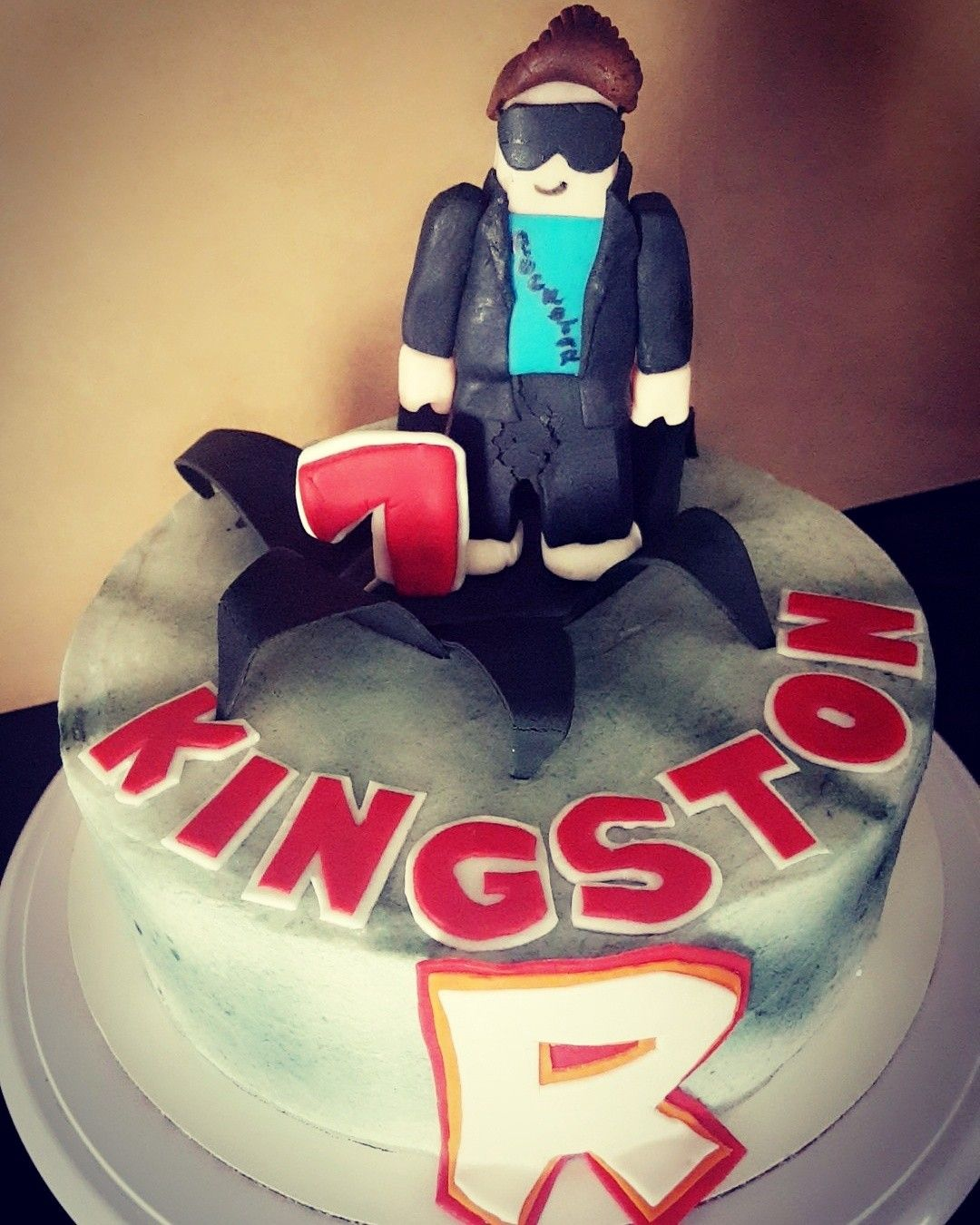 Roblox Inspired Cake With A Personal Avatar Character Birthday 91717 Custom Madebynina