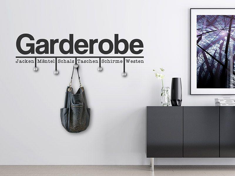 Wandtattoo Moderne Garderobe Mit Wandhaken Garderobe Modern