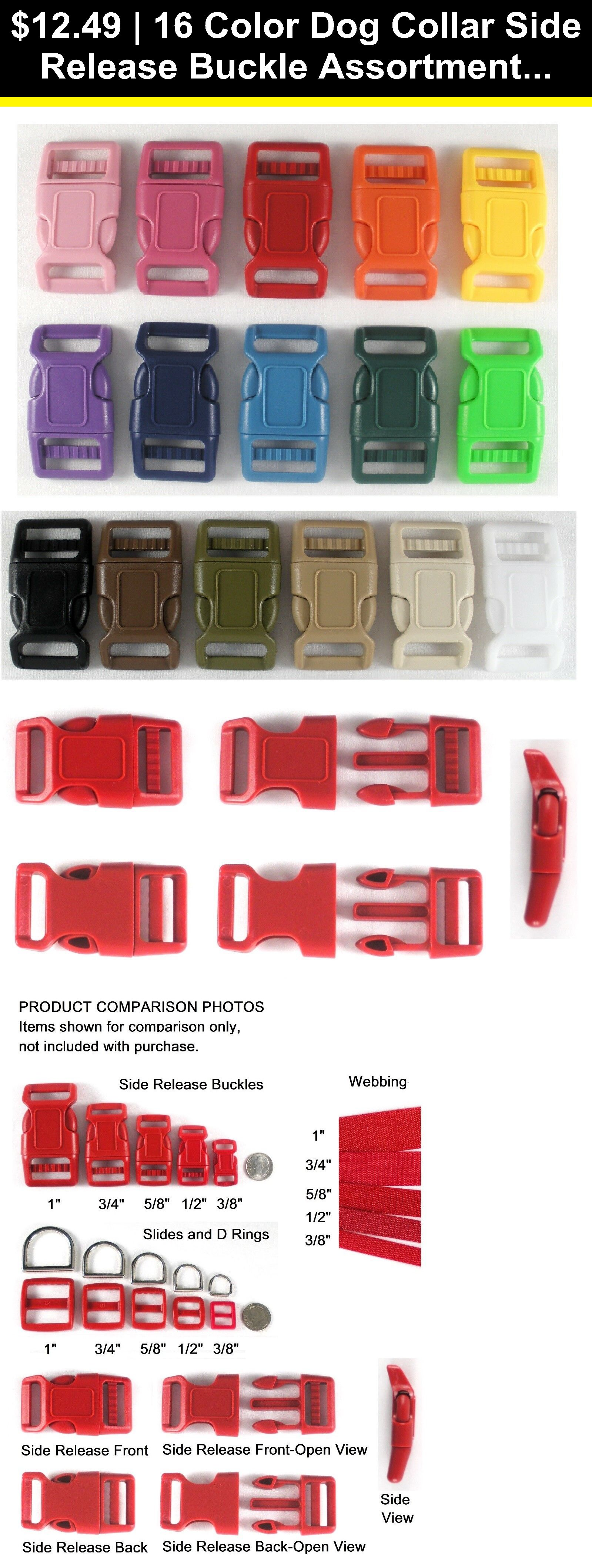 5 Metal Side Release Buckles for Paracord Webbing Dog Collar 32*15mm