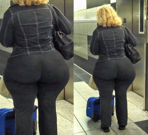 Bbw booty in tight jeans