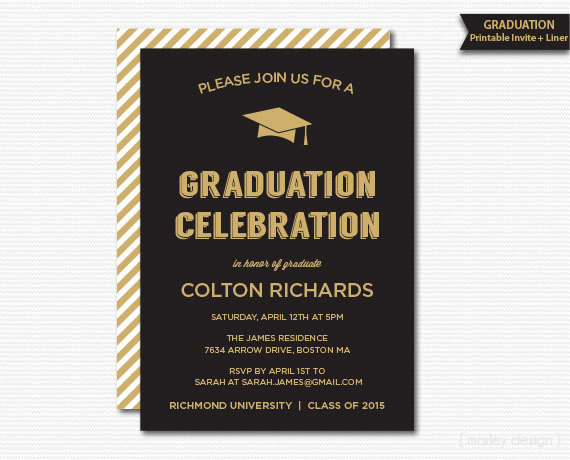 graduation dinner invitations