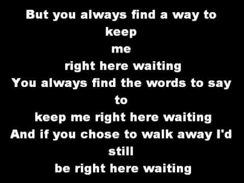 Right Here Waiting Staind I Love This Song 3 Staind Lyrics Here Lyrics Lyrics To Live By