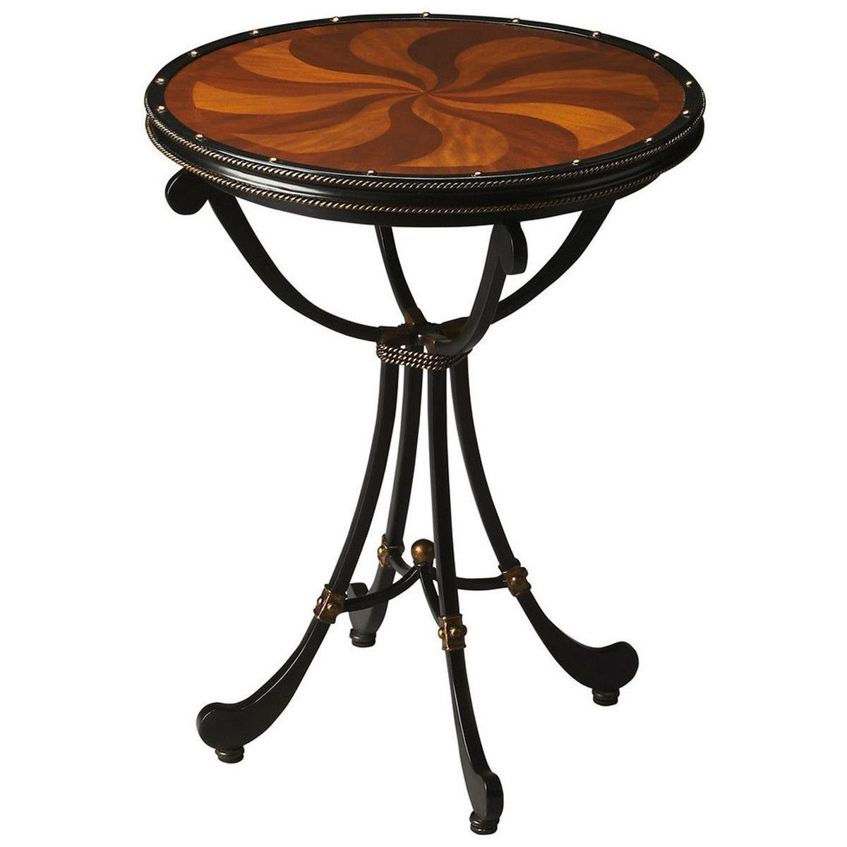 Butler Specialty Metalworks Cherry And Metal Chelsea Accent Table