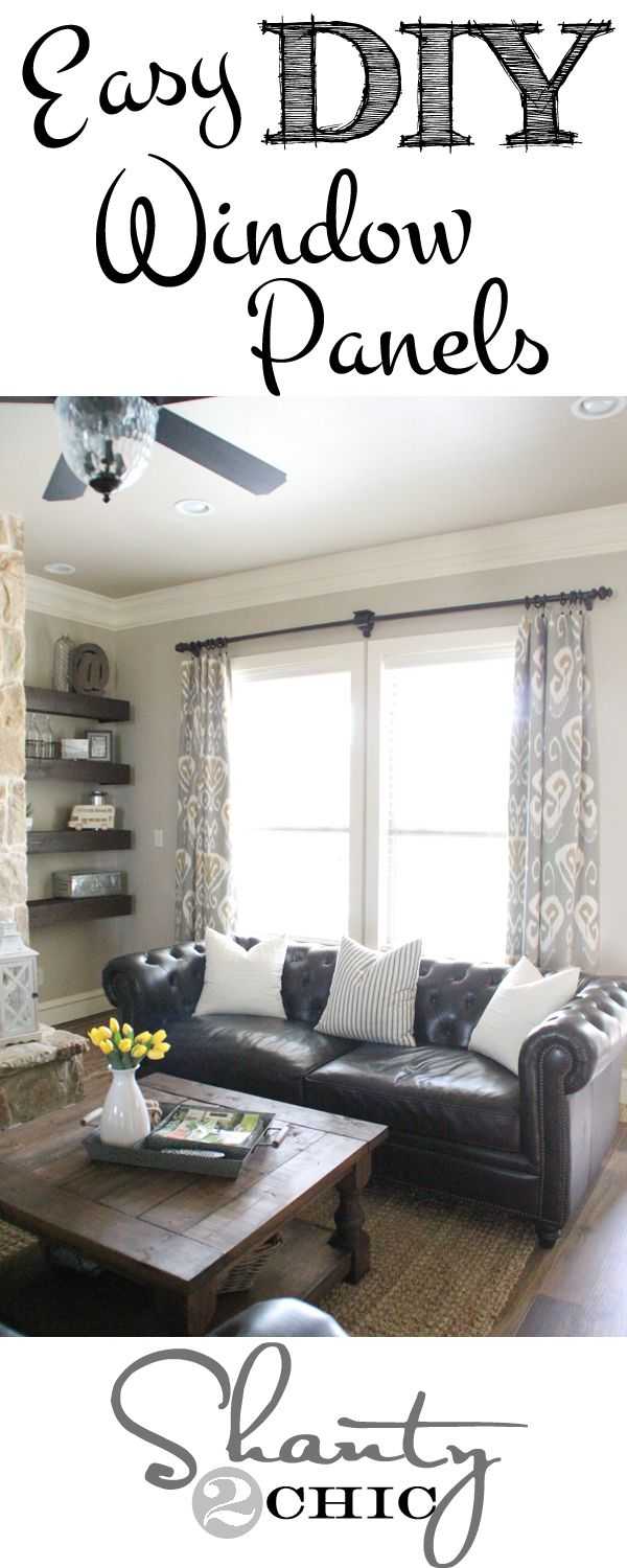 Diy lined window panels window panels window and living rooms
