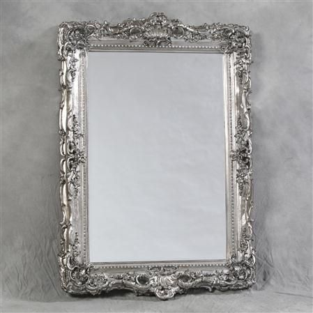 The William Francis Collection Large Silver Ornate French Mirror Https Www Homesav Com Silver Framed Mirror Vintage Mirror Wall Decor Vintage Mirror Wall