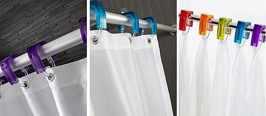 high end shower curtain rings small