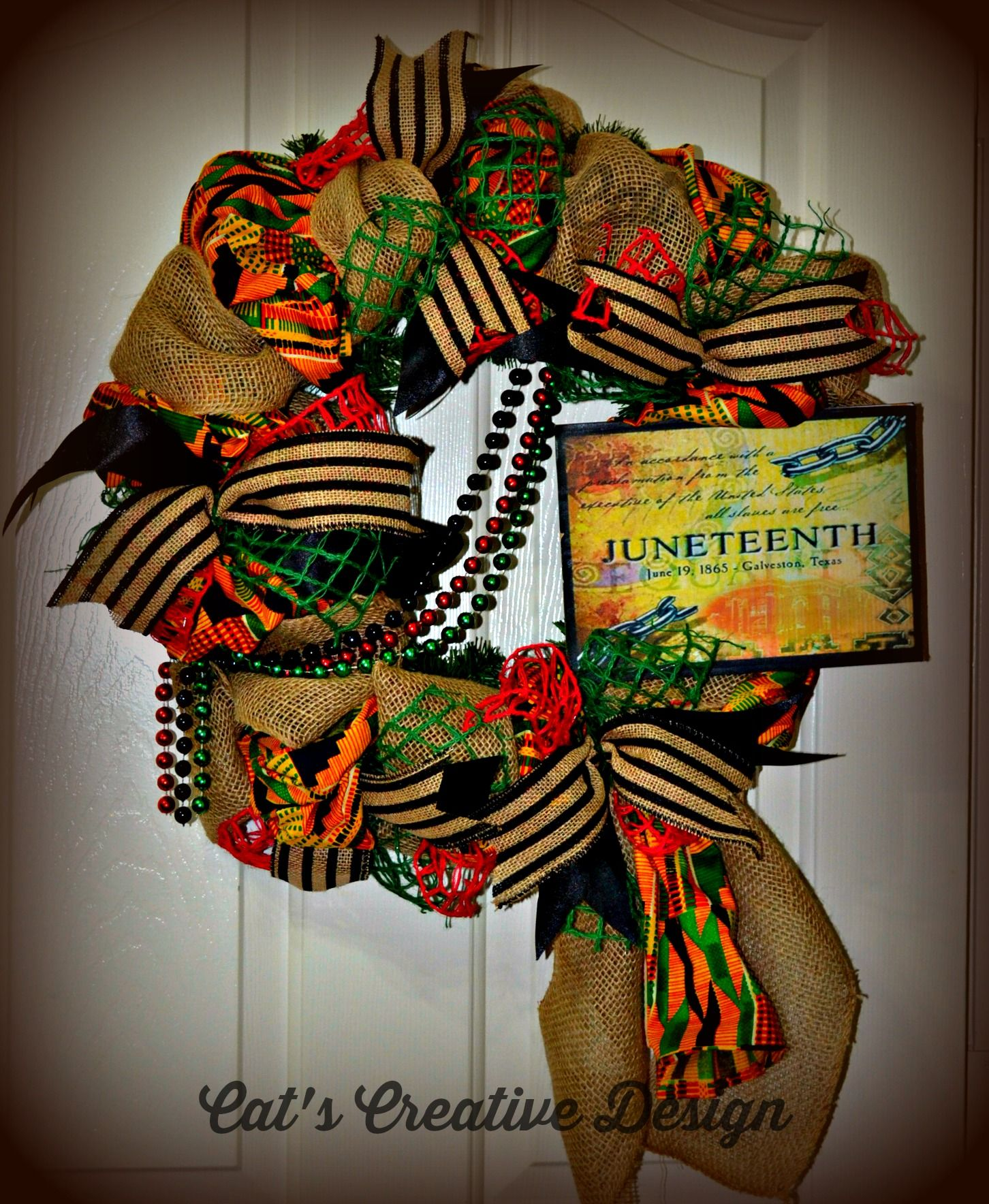 Juneteenth Wreath Black History Month Crafts African