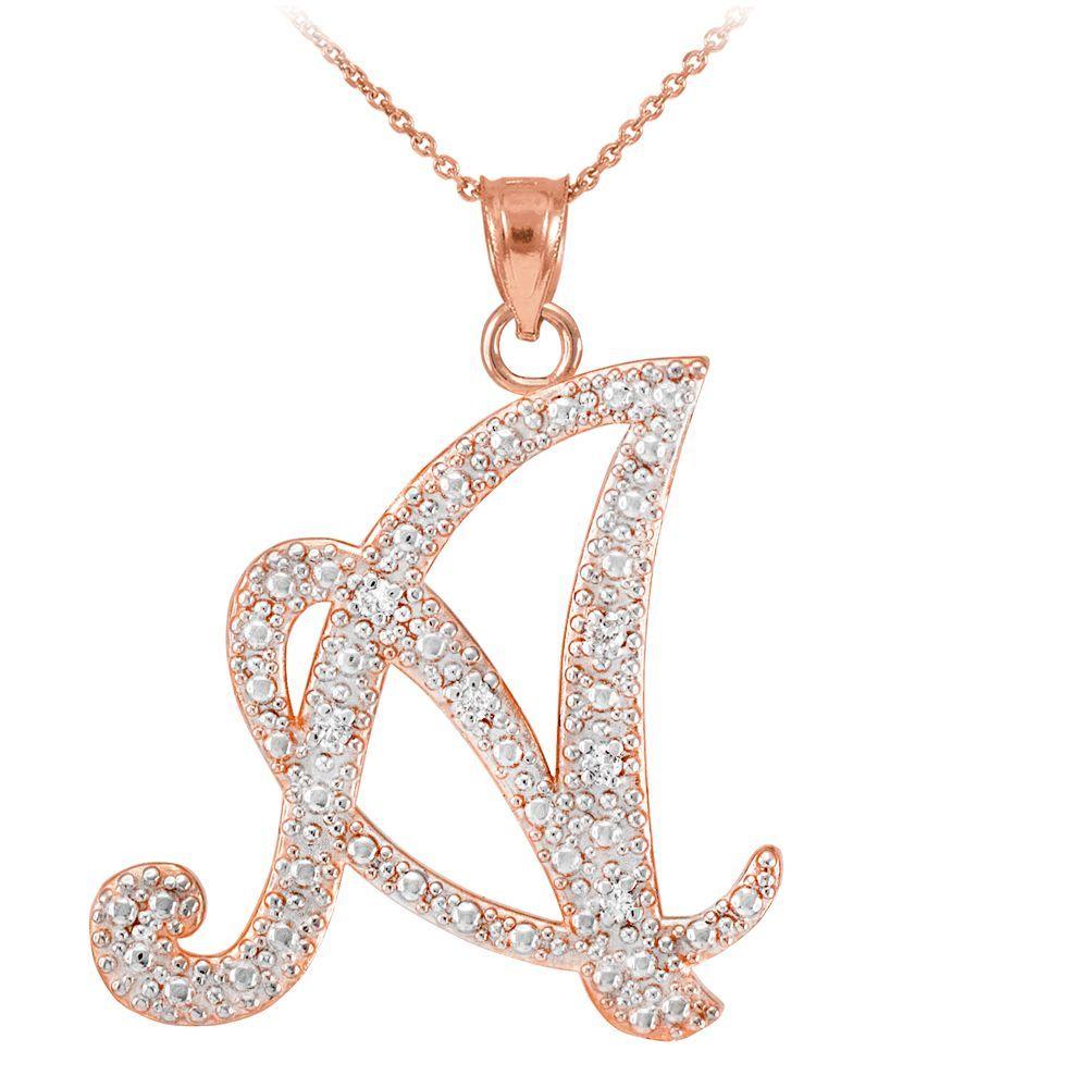 K rose gold letter script