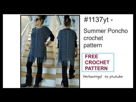 Crochet Poncho Free Crochet Pattern Summer Poncho Sweater Wrap