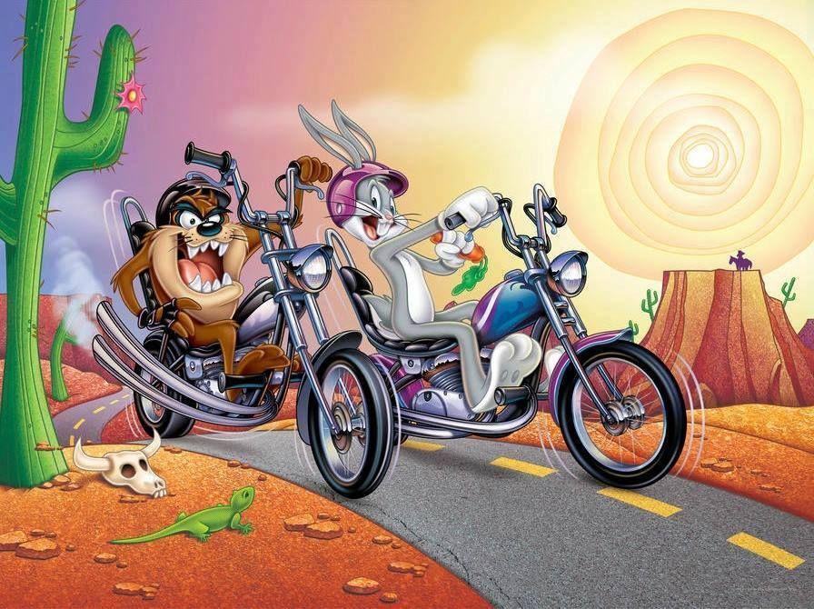 Pin By Michael Roach On Looney Tunes Cartoon Bike Art Biker Art