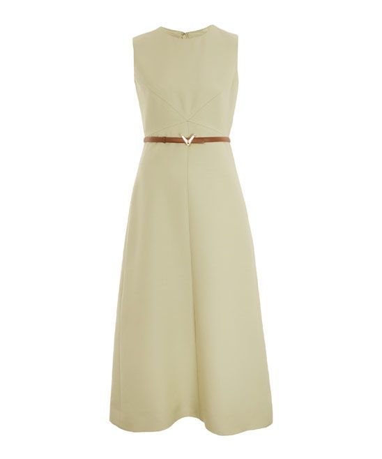 Valentino - Mint Sleeveless Belted Crepe Dress (pair with RL boots)