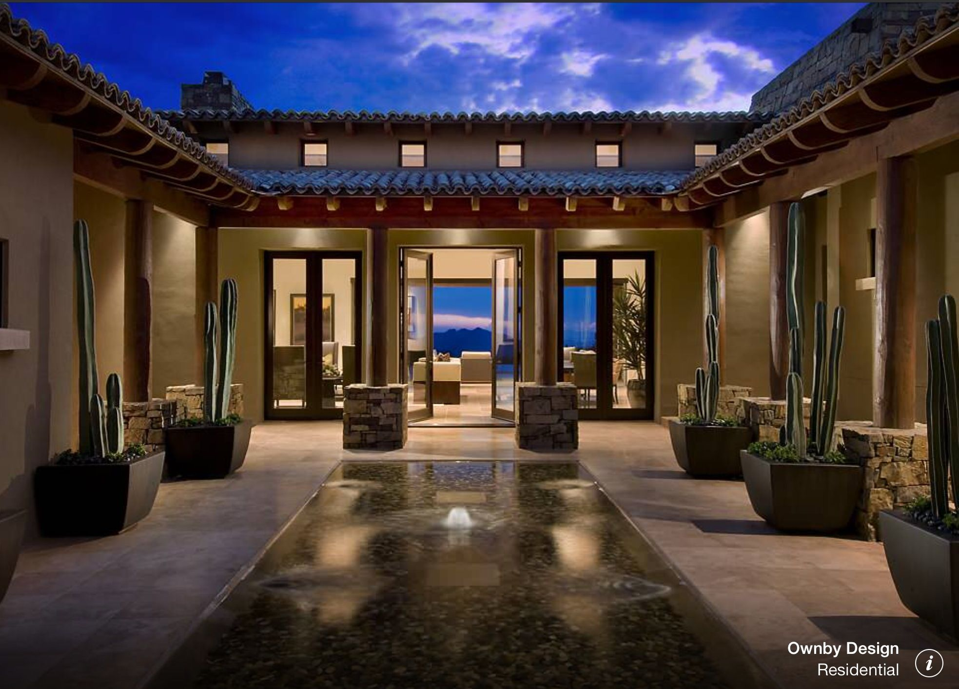 Central Yard House Luxury House Designs Spanish Style Homes Spanish House Design