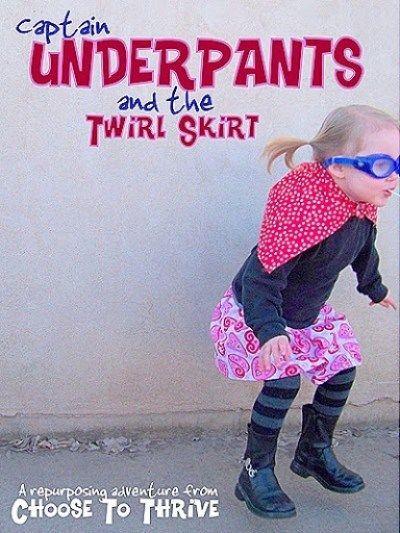Captain Underpants and the twirl skirt #captainunderpantscostume Captain Underpants and the Twirl Skirt #pretend #dressup #play #costume #bookcharacter #twirlskirt