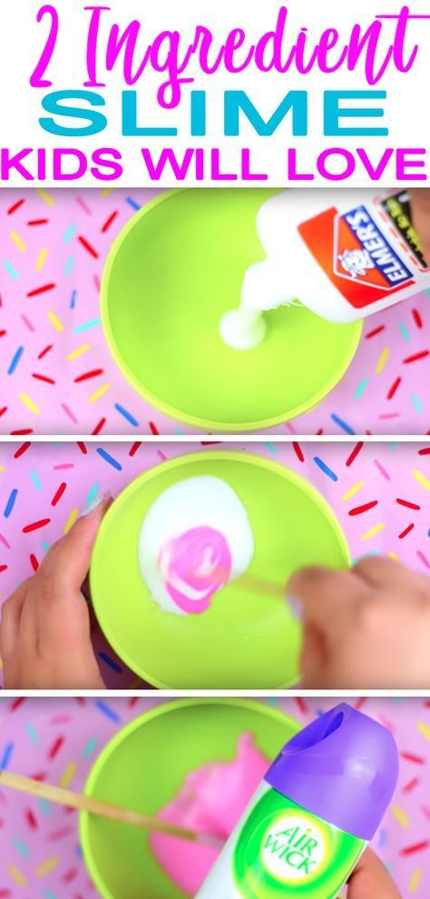 DIY 2 Ingredient Slime Recipe How To Make Homemade No