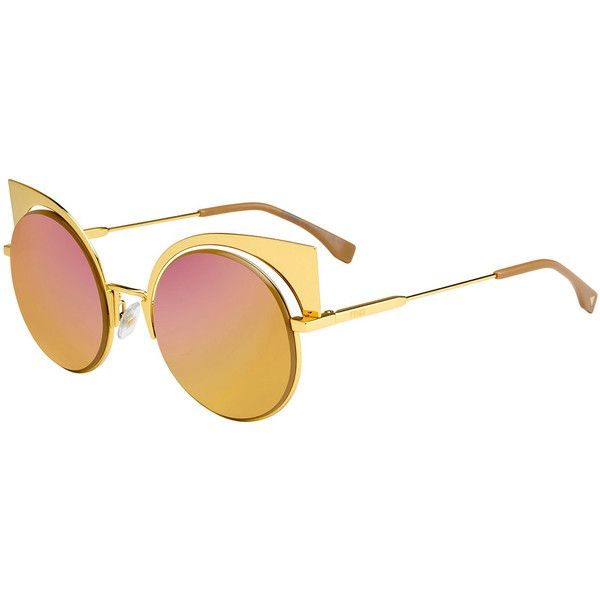 a079fc4e17 Fendi Runway Mirrored Cutout Sunglasses (5 250 SEK) ❤ liked on Polyvore  featuring accessories