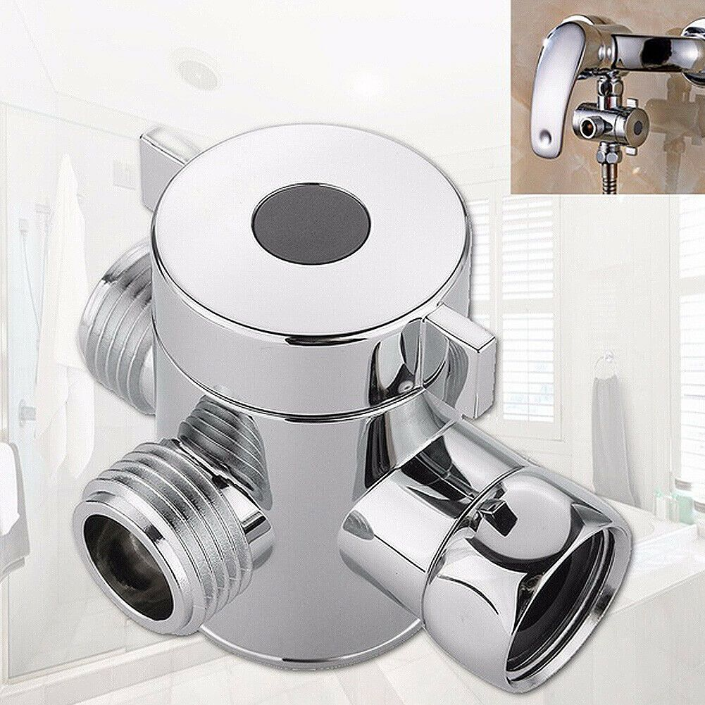 Us New Bathroom G1 2 Shower Head Diverter Valve Tap 3 Way M F