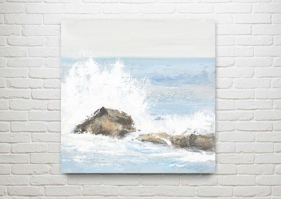 Ocean Painting Art Acrylic Original // Swallowed by KatieJobling