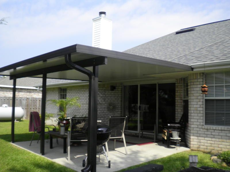 Best Aluminum Porch Roof In Backyard Outside Pinterest Patio