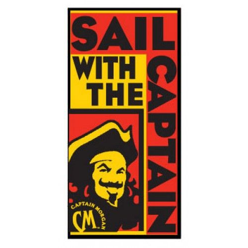 Captain Morgan Sailing With The Beach Towel Officially Licensed From