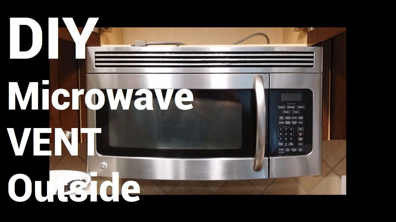 Over Range Microwave Vent To Outside Youtube Over Range