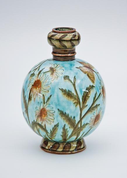 John Bennett Pottery John Bennett Ceramic Vase Decorated With