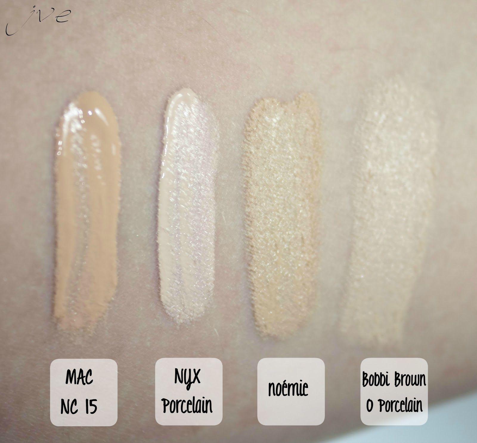 Mac Nc15 Studio Finish Concealer Vs Nyx Porcelain Full