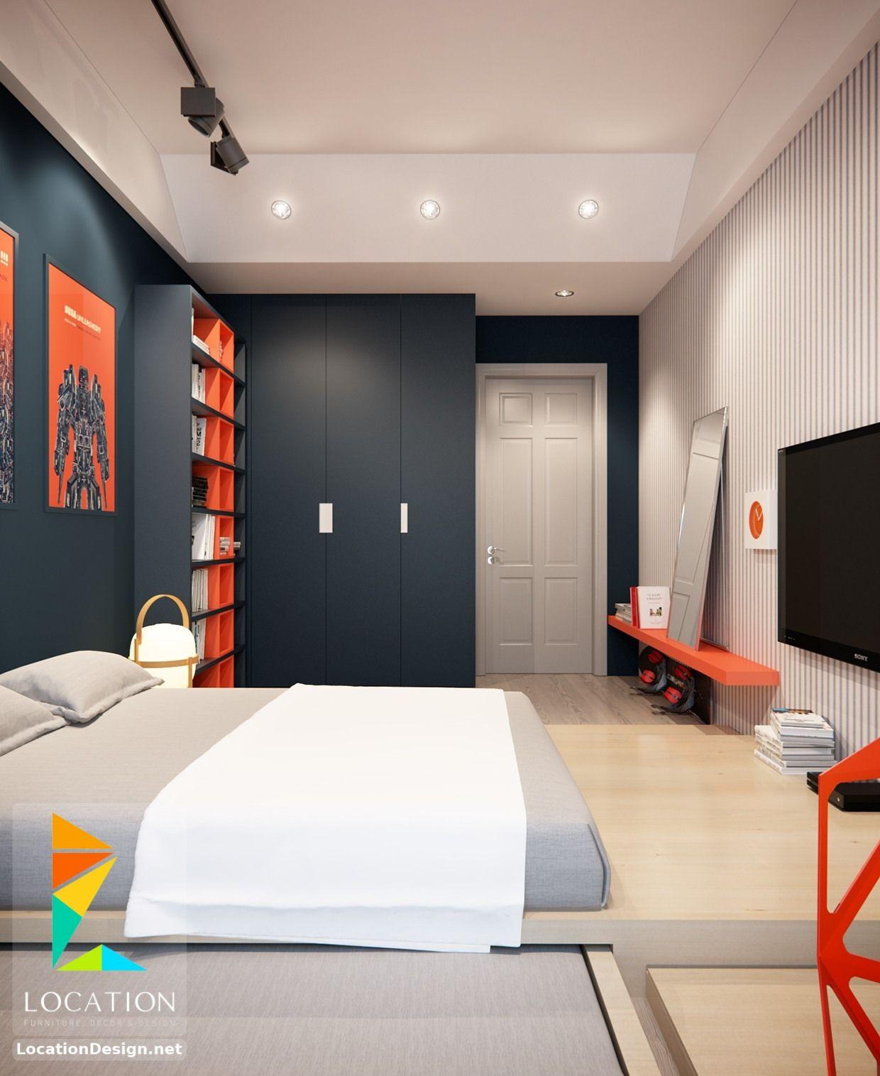غرف نوم اولاد شباب أحدث موديلات غرف شبابي مودرن لوكشين ديزين نت Modern Bedroom Design Boy Bedroom Design Bedroom Interior