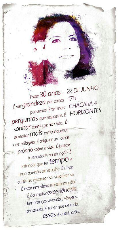Convite Festa 30 Anos Trintei Aniversario Aniversario 30 E Eventos