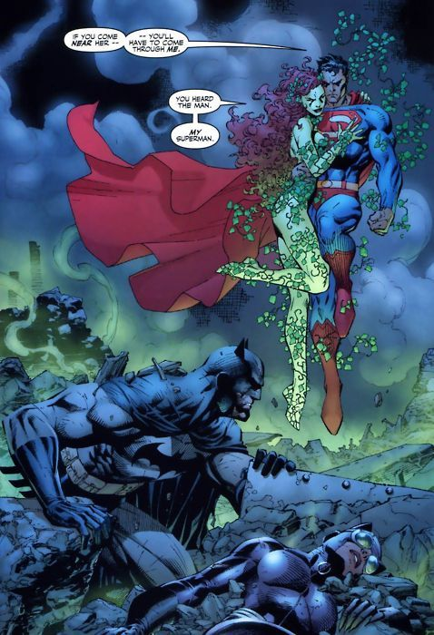 Superman And Poison Ivy Hush Jim Lee Art Batman And Catwoman Batman Hush