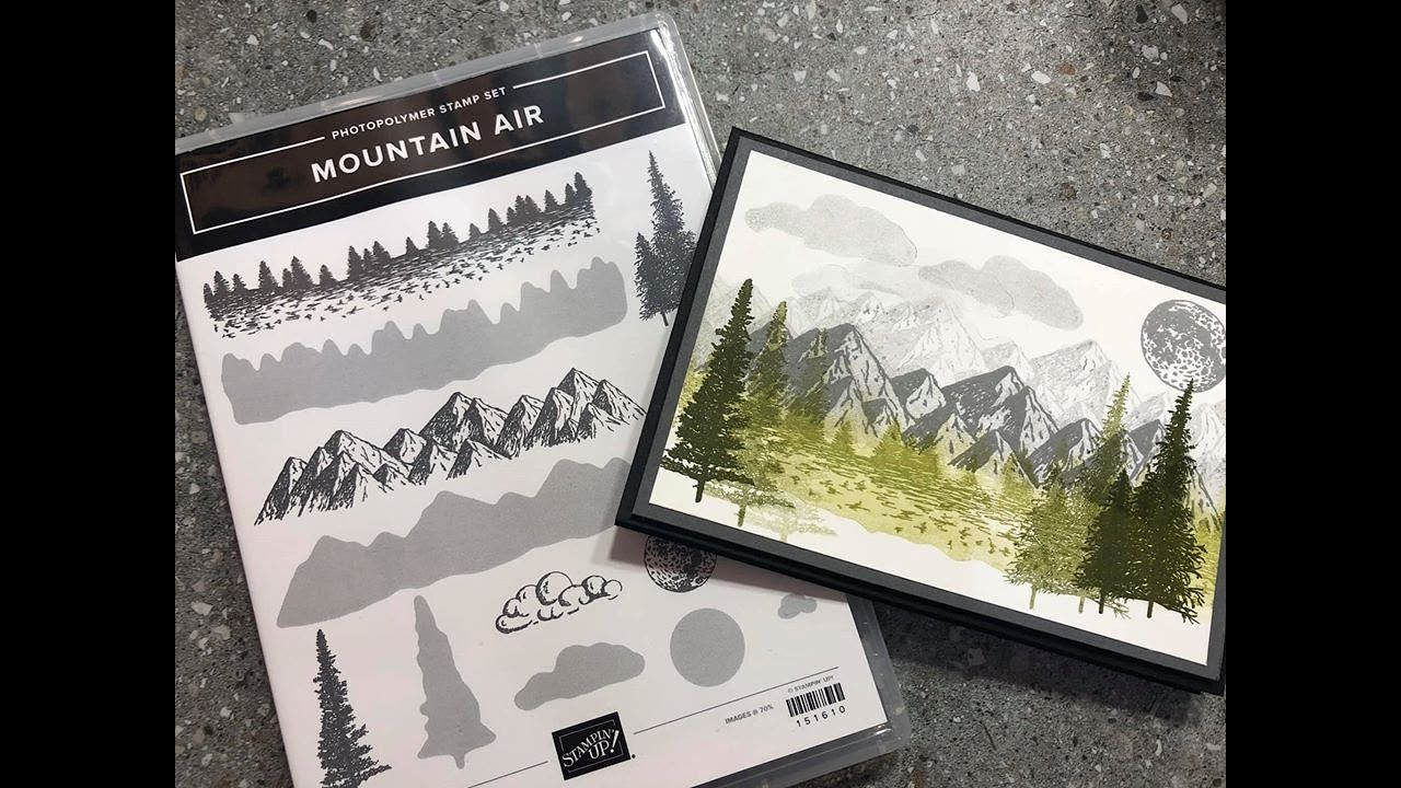 Stampin Up! Mountain Air stamp find out how to buy it now