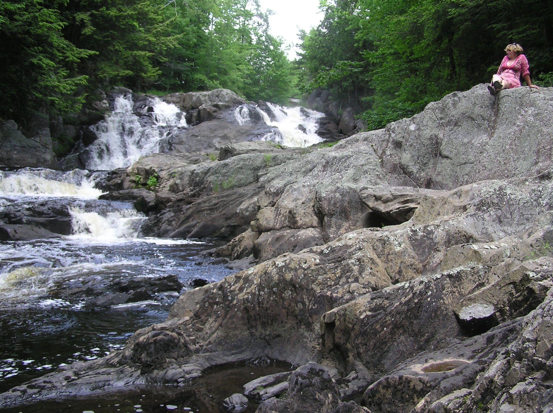 Monroe Falls, Monroe, Maine Maine, Outdoor, Waterfall