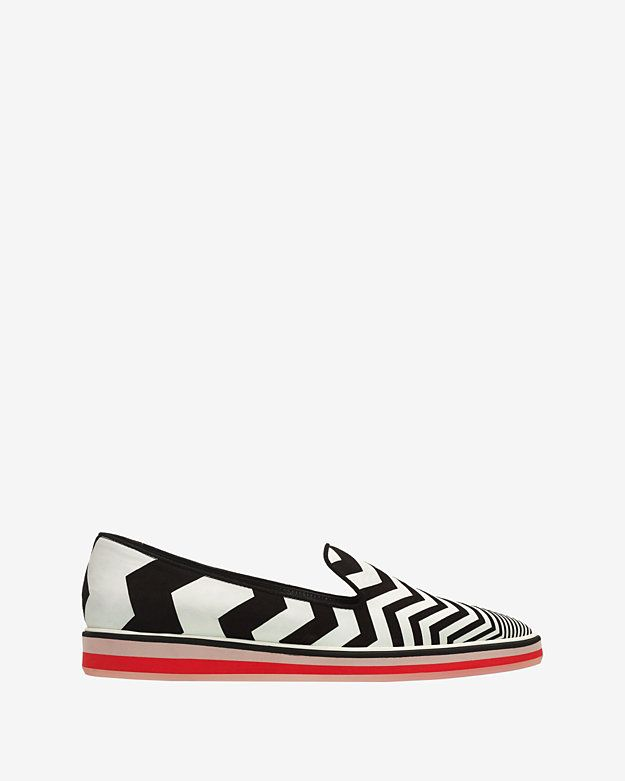 Nicholas Kirkwood Printed Pointed-Toe Slip-On Sneakers