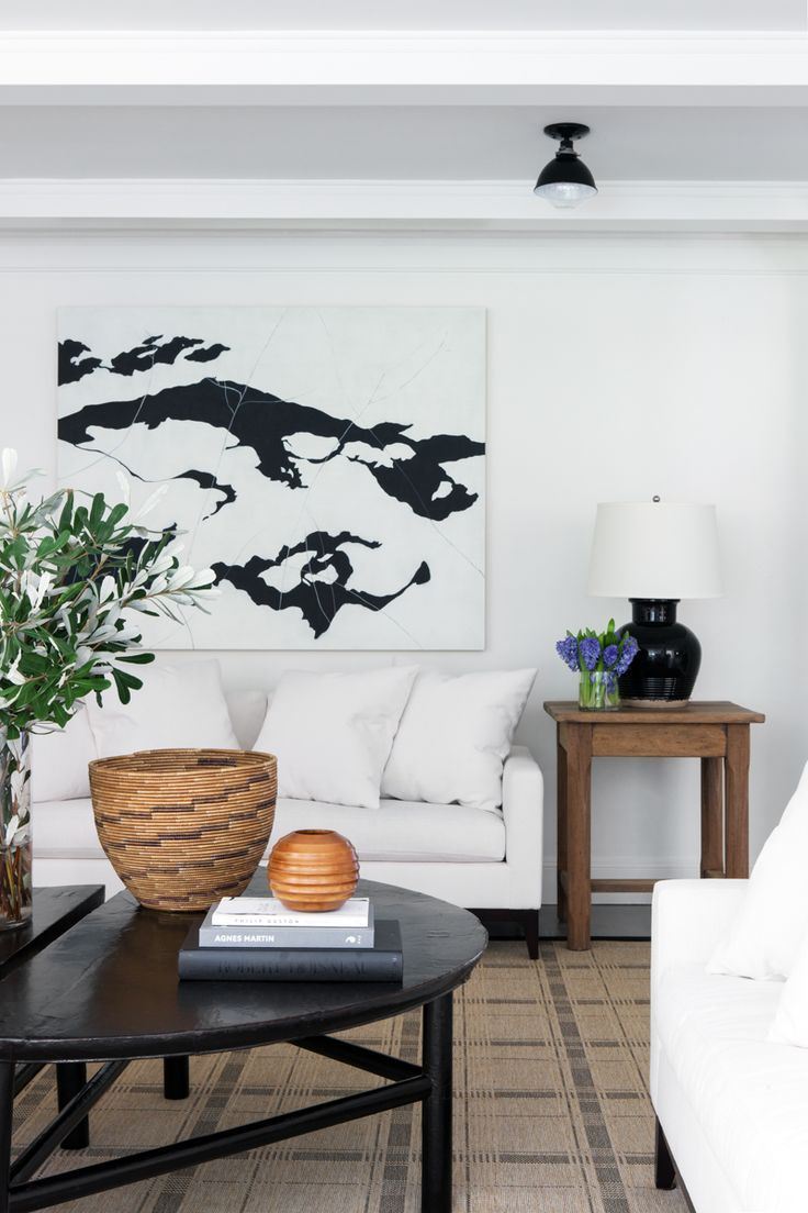 Amazing Large Black And White Abstract Art Over The Sofa Black Uwap Interior Chair Design Uwaporg